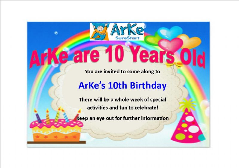 ArKe's Celebrating their 10th Birthday